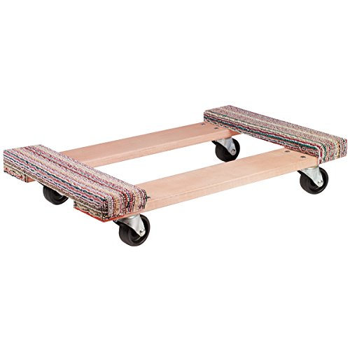 (Akro-Mils RD3018CE4P Carpet End Industrial Grade Wood Dolly Polyolefin Caster, 30 x 18