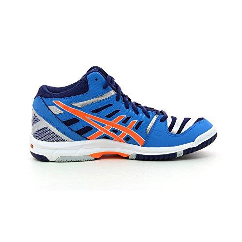 Asics - Zapatillas de volley Gel Beyond 4MT de Hombre Azul-Naranja-Plateado