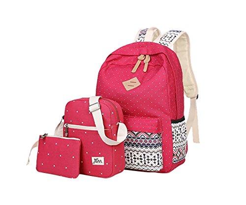 48d59acf6281 HONEYJOY Lightweight Canvas School Bookbag Causal Travel Bag School ...