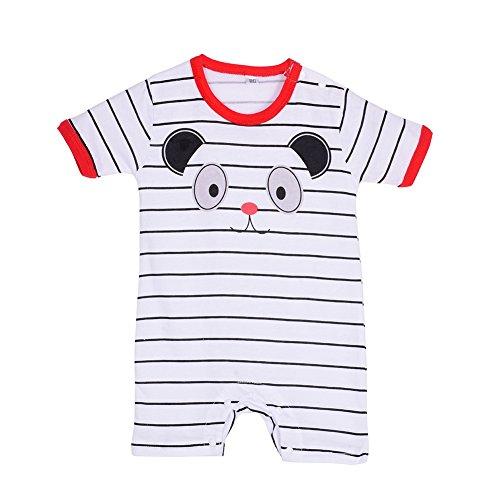 Froomer Baby Boy' Summer Striped Snap-Up Romper Short Sleeve