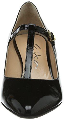 Caviglia Alla Nero schwarz Donna Scarpe Con Cinturino Shoes Tacco schwarz Evita Col qYCxfwa