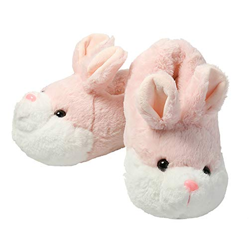 Ancaixin House Slipper for Adult Women, Non Slip Winter Warm Fluffy Indoor Shoes for Ladies, Cute Bunny Lovely Gift for Girls Pink