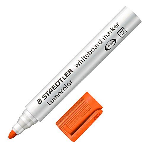 Staedtler Lumocolor Whiteboard Marker 351-4 Bullet Tip - Orange (Pack of 10) ()