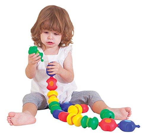 Childcraft Toddler Manipulatives Sensory Snap Beads, Set of 16 (Sensory Lock)