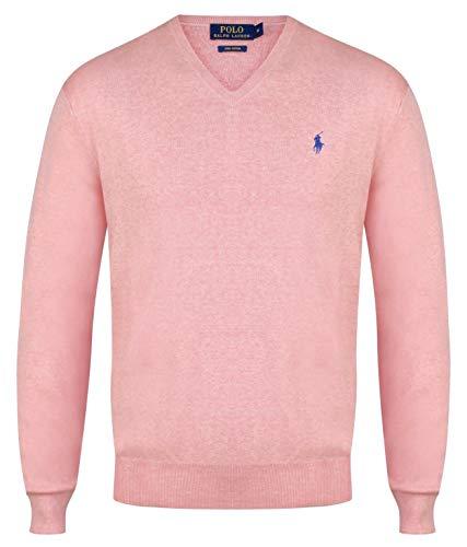 Cotton Jumper S Ralph Pink Various Pima Lauren Xxl Colours neck V Light Polo Men's 110ZIq