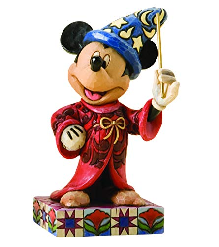 Disney Traditions by Jim Shore Sorcerer Mickey Personality Pose Stone Resin Figurine, 4.25