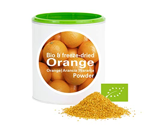 Orangenpulver – Bio Orange gefriergetrocknet |bio organic| freeze-dried orange| good-superfruit von good-smoothie| 100% frucht |ohne zusatzstoffe + viele Inhaltsstoffe| 120g