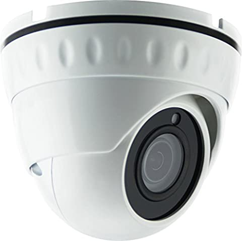 HDView 2.4MP 4-in-1 (TVI/AHD/CVI/960H) 1080P Outdoor SONY Sensor Wide Angle 2.8mm Fixed Lens Turbo Platinum Dome - Everfocus Alarm