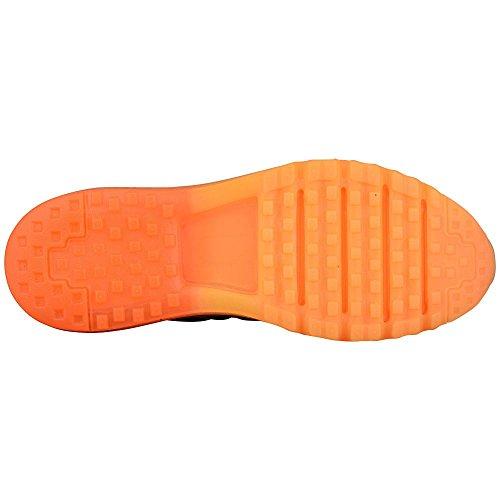 Nike Air Max 2015 Heren Hardloopschoen Wolf Grijs / Zwart-totaal Oranje-laser Oranje