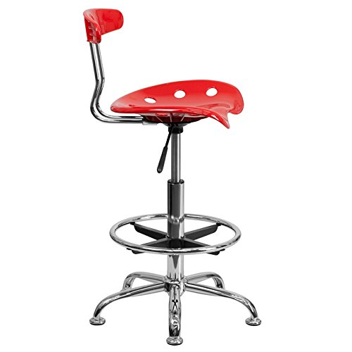 Vivacious Drafting Stool with Tractor Seat