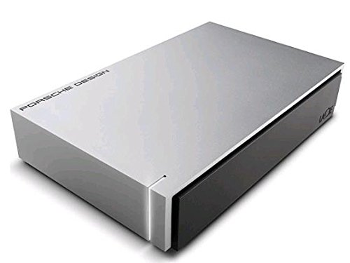LaCie 8 TB Porsche Design USB 3.0 Desktop 3.5 Inch External Hard Drive for PC and Mac - Silver