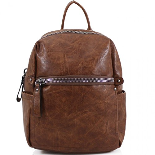 School Quality Handbags Bag For Holiday Nice Rucksack LeahWard BROWN Leather Faux Girls x D16cm x Bags Women's W30cm H37cm A4 CW186 Backpack vzP5wfx7q