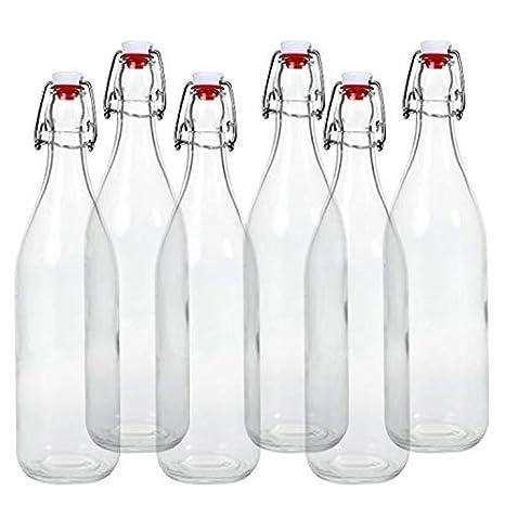 Botellas de cristal (con cierre de clip giara 6 piezas | 6 botellas