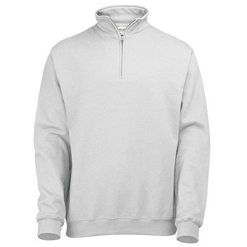 AWDis Hoods Sophomore ¼ zip sweatshirt Arctic White M