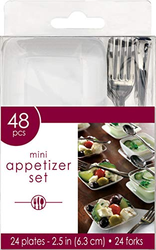 amscan Mini Appetizer Party Set Perfect Tableware and