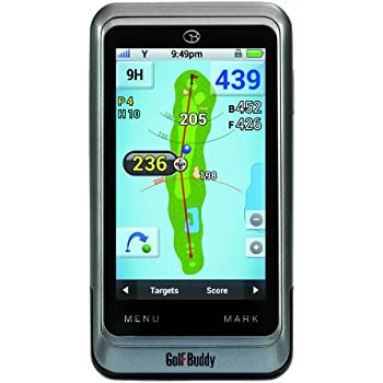 GolfBuddy GB3-PT4 Golf GPS/Rangefinder, Silver, Adjustable