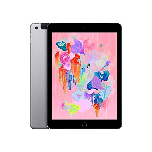 Apple iPad (Wi-Fi + Cellular, 32GB) – Space Gray (Latest Model)