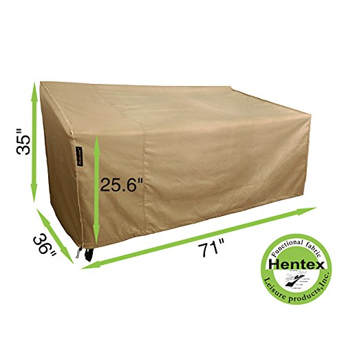 Hentex Cover 5504 Loveseat and Bench Patio Cover,Water Resistant, Breathable, Laminated Advanced Functional 3-layered Fabric, 3 Year Warranty (71