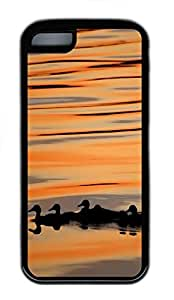 for ipod Touch 4 Case Group Of Ducks TPU for ipod Touch 4 Case Cover Black