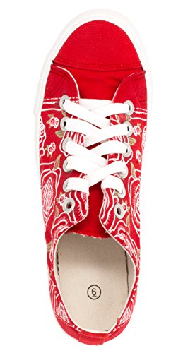 Rose Flower Cute Flower Gym Tennis Shoes Floral Fun Stylish Artsy Sneakers - Lowtop, US Mens 4, US Womens 6