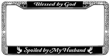 Black Skinny License Plate Frame Jesus Is Lord Auto Accessory