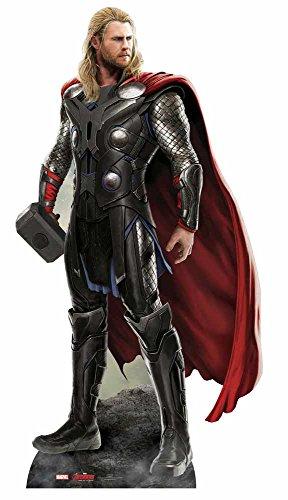 Star Cutouts Marvel Avengers Movie Lifesize Cutout of Thor (Chris Hemsworth) 187cm -