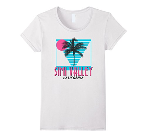 Womens Simi Valley California T Shirt Retro Cool Medium - Valley Simi
