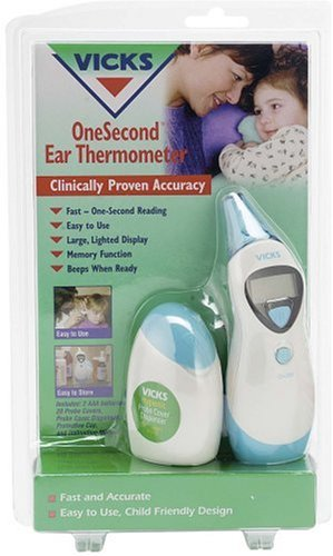 how to use vicks ear thermometer