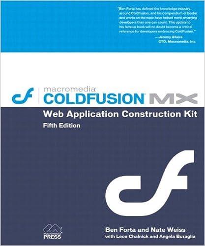 ColdFusion MX Web Application Construction Kit 5th Edition