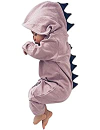 BQUBO Baby Cartoon Onesies Disnosaur Romper Long Sleeve...