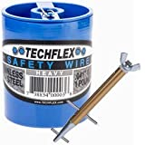 "Clamptite Kit - CLT05 - 4 3/4"" Plated Steel/Aluminum Tool w/ Wingnut and 220 ft 1lb. Can of .041 Safety Wire"