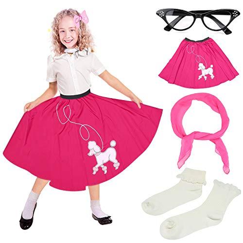 Beelittle 50s Girls Costume Poodle Skirt 50s