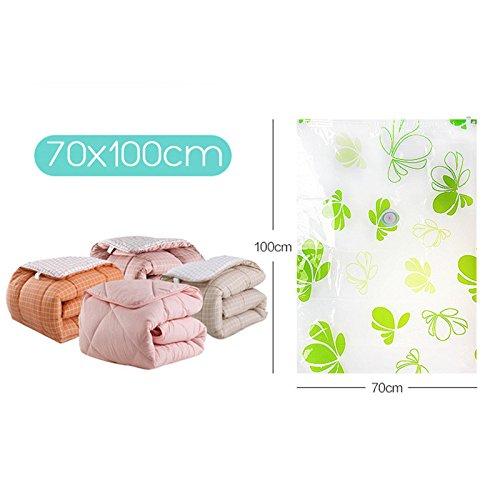 Raza 8Pcs/Set Vacuum Storage Bag Suction Compression Clear Clothes Quilt Dustproof Save Space + Air Pump by Raza