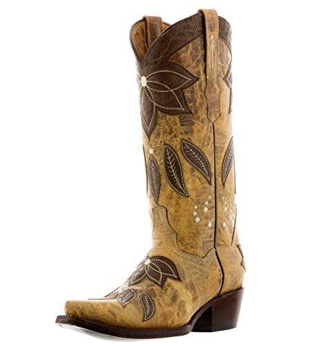 Snip Leather Sand Womens Cowboy Professional Overlay Cowboy Summer Toe Boots OWf0WTcR