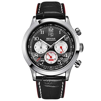 My Amazing New Store Men Watch Top Brand Luxury Sport Clock - L Silver Red B
