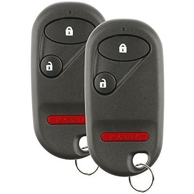 Discount Keyless Replacement Key Fob Car Entry Remote For Honda Civic Pilot NHVWB1U521, NHVWB1U523 (2 Pack): Automotive