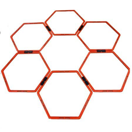 Oncourt Offcourt Hexo Agility Rings – Set Of 6 Rings/Clip Together & Pull Apart/Movement & Fitness Training -