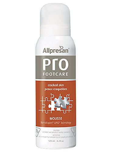 (Allpresan PRO Foot Care Cracked Skin Foam Mousse 125mL / 4.3 fl oz - Unscented no Artificial Colors or Preservatives - Guaranteed by Regenescence)