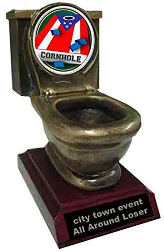 Cornhole Toilet Trophy