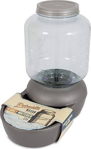 Petmate Replendish Mason Gravity Waterer Cat and Dog Water Dispenser 4 - Glass Vb Traditional