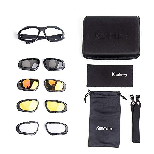 - kemimoto Motorcycle Glasses Riding Goggles Anti-fogging & Polarized Lens for Outdoor Driving Skiing