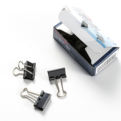Officemate OIC Mini Binder Clips, Black, 144 Pack (12 Boxes of 1 Dozen Each) (99010) Photo #3