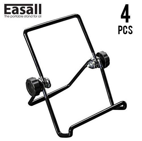 4 pcs Multipurpose Table Easel Book Stand Plate Display for Recipe Cookbook Plate Photo Frame Picture Art Kindle iPad Tablet with Anti Scratch Vinyl Coated Wire and Selectable Viewing Angles