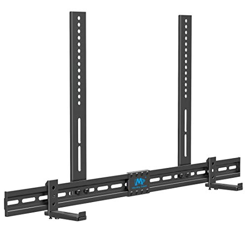 Mounting Dream Universal Soundbar Mount for SONOS Beam, Sound Bar Bracket for Soundbar with Holes/Without Holes, Non-Slip Base Holder Extends 3.4