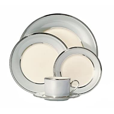 Lenox Blue Frost Platinum Banded Ivory China 5-Piece Place Setting, Service for 1