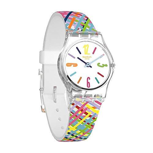 Swatch Tadelakt Dial Silicone Strap Ladies Watch LK389