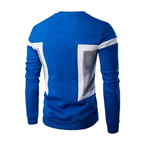 Giacca Colletto Cappotto Autunno Sportiva Stile Semplice Uomo Bomber Banda Vento Inverno Leisure Decorativa Blau Casual A Moda Business UFWqSqEzw