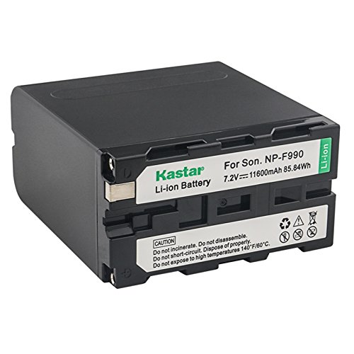 Kastar NP-F990 Battery 1 Pack, 7.2V 11600mAh Replacement for NP-F975 NP-F970 NP-F960 NP-F950 NP-F930 NP-F770 NP-F750 NP-F730 NP-F570 NP-F550 NP-F530 NP-F330 Battery, Sony Camcorder and LED Video Light by Kastar
