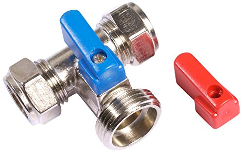 Bulk Hardware BH02906 Vanne de lave-linge//poign/ée en T 15 mm x 3//4 BSP