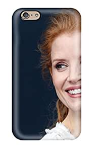 CvmmPwf10175qWtBu Anti-scratch Case Cover AnnaSanders Protective Jessica Chastain Redhead Actress People Women Case For Iphone 6